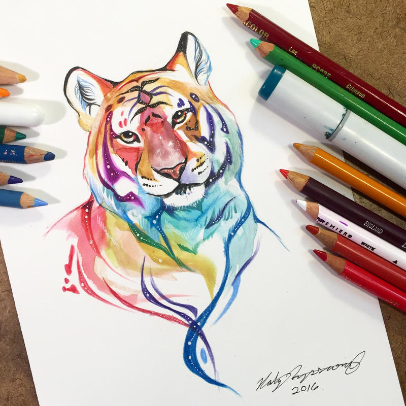 Sparkly tiger by lucky978 on deviantart for Tattoo shops in katy