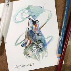 Howl Sketch Card