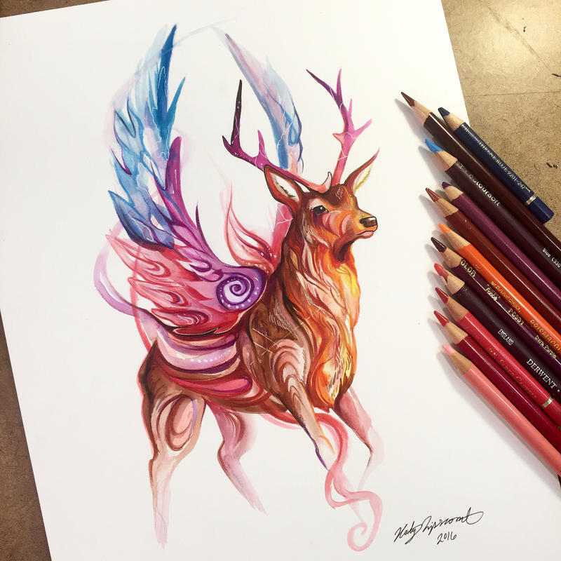 Magic stag by lucky978 on deviantart for Tattoo shops in katy