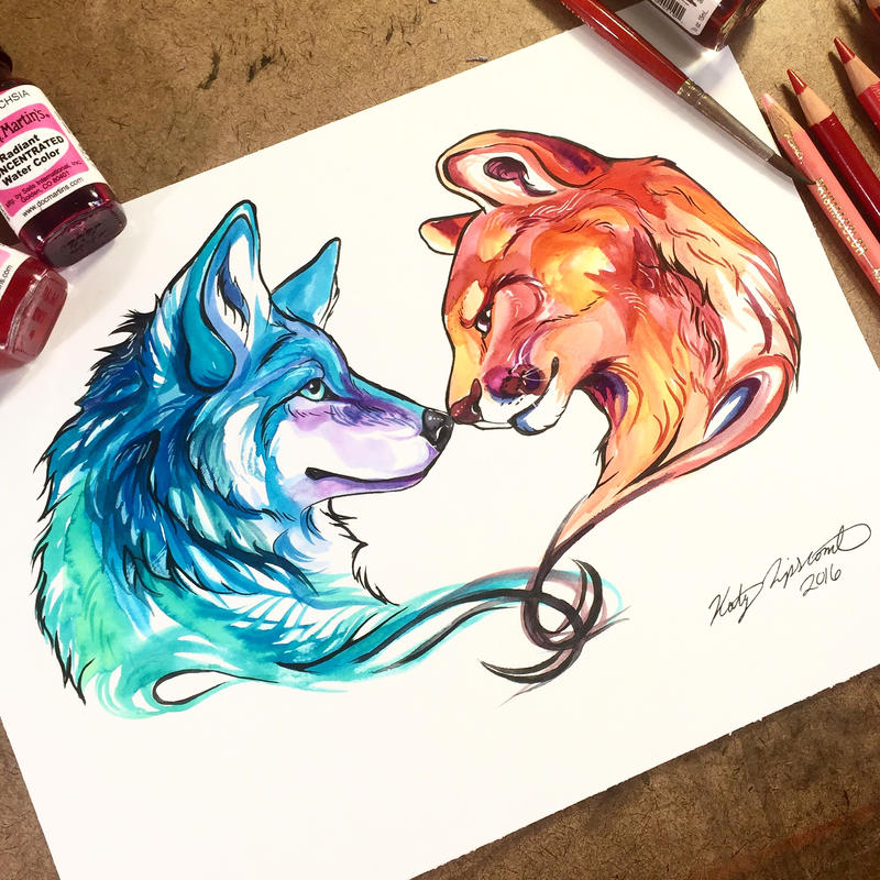 Wolf And Mountain Lion By Lucky978 On DeviantArt
