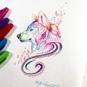 Howl Pen Drawing 1