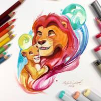 Mufasa and Simba by Lucky978