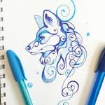 Swirly Wolf