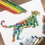Colorful Filigree Tiger!
