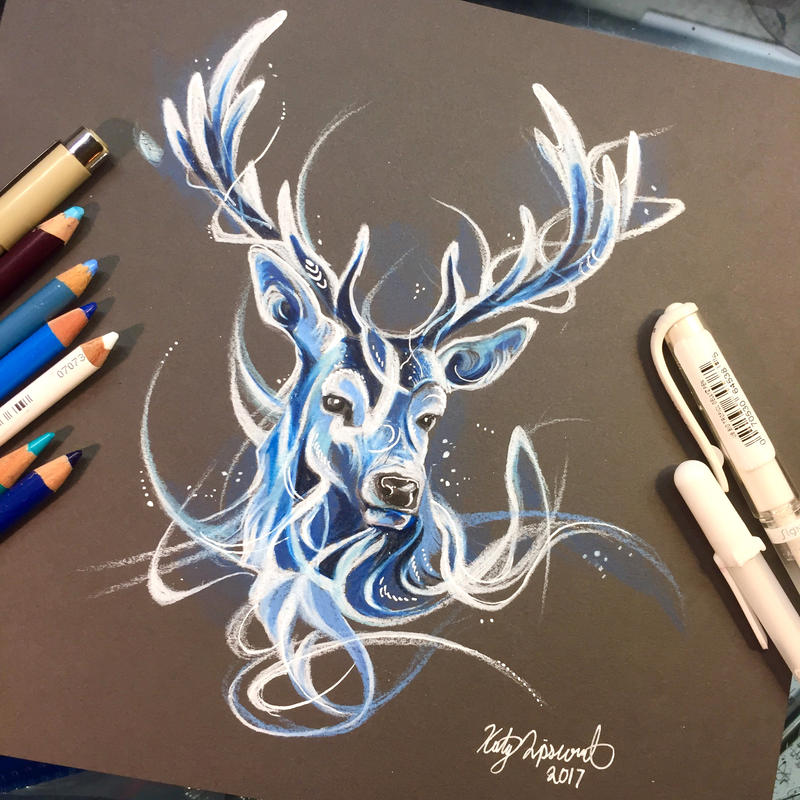 stag patronus by lucky978 on deviantart. Black Bedroom Furniture Sets. Home Design Ideas