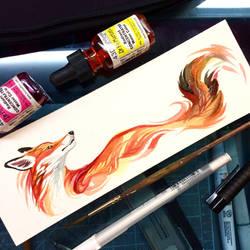 Fox Watercolor Sketch