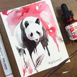 Panda Watercolor Mini