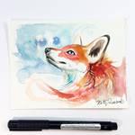 Fox Watercolor Mini