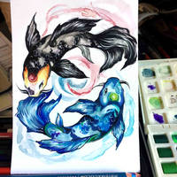Yin and Yang Koi by Lucky978