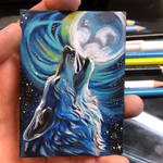 33- Howling Wolf ACEO
