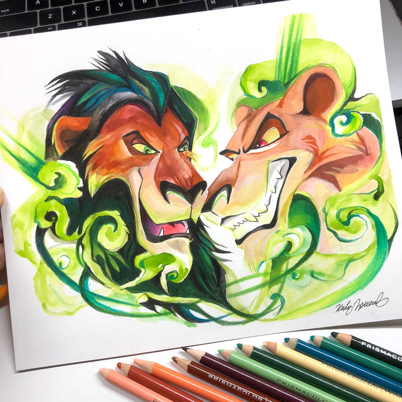 Scar and Zira by Lucky978