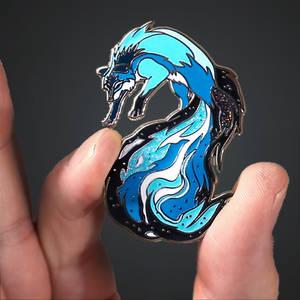 Galaxy Fox Enamel Pin