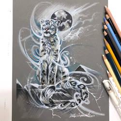 Spirit Snow Leopard by Lucky978