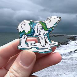 Polar Aurora Enamel Pin by Lucky978