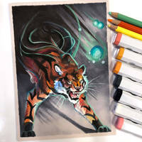 Day 6: Tiger (Wildquesadilla Draw this in Your Sty