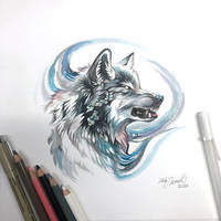 Day 49: Infected Wolf