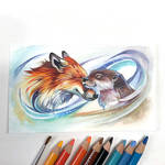 Day 69: Fox and Otter Nuzzle