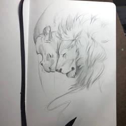 Day 109: Lion Nuzzle