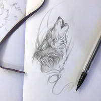 Day 144: Howling Wolf Sketch