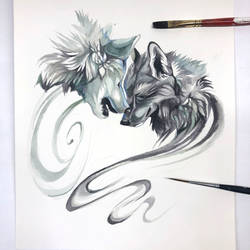 Day 152: Nuzzling Wolves
