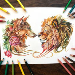 Day 162: Wolf and Lion