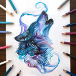 Day 168: Teal Howling Wolf