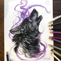 Day 182: Black Howling Wolf