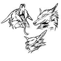 Day 183: Dragon-Wolf Sketches