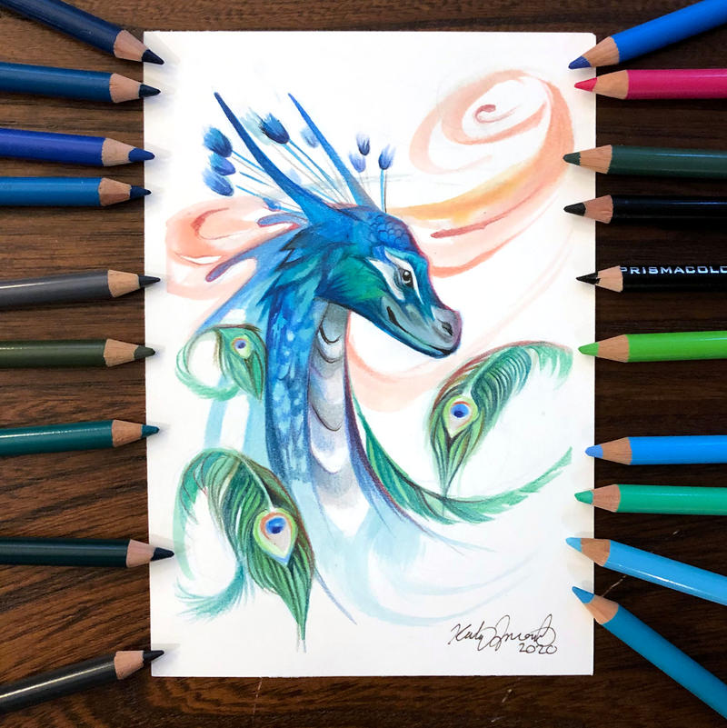 Day 189: Peacock Dragon