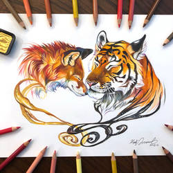 Day 195: Fox and Tiger