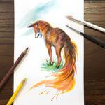 Day 261: Watercolor Fox Sketch