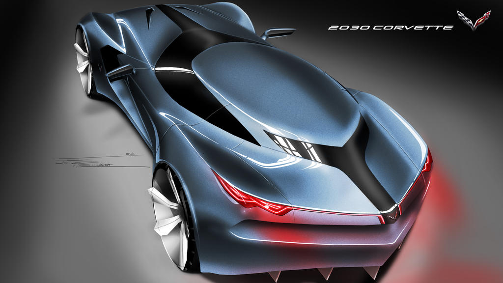 2030 Corvette Rear 351209114 on second semester final project