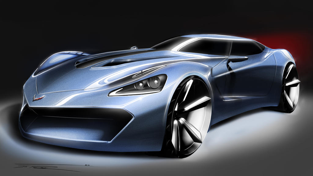 Mustang Concept >> 2030 Corvette Front by jp9109 on DeviantArt