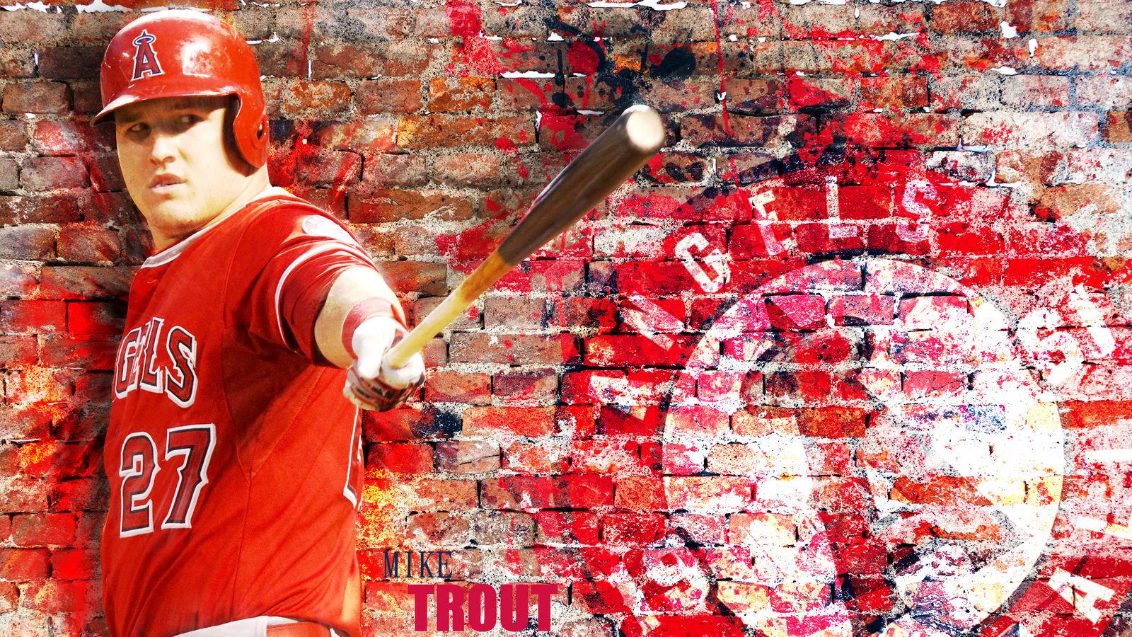 Mike Trout Wallpaper By Tennisball22 On Deviantart