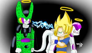 Cell X Freeza X Goku