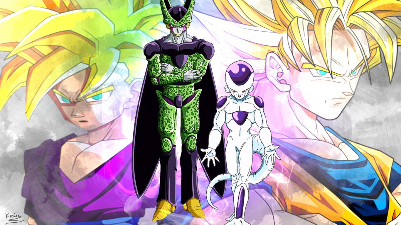 Cell Freeza Goku Gohan Wallpaper by Kesia-chan on DeviantArt