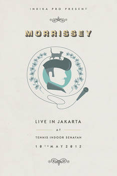 Morrisey Live in JKT - unofficial poster