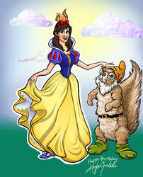 Snow White Theme Caricature