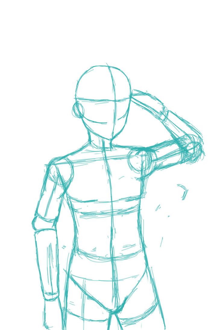 Body Base Sketch By Vocalist-RedSpade On DeviantArt