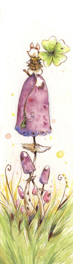 On a mushroom by WinterImp