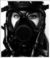 Gas mask fetish