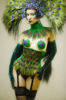 Peacock Blue Fashion Show 01