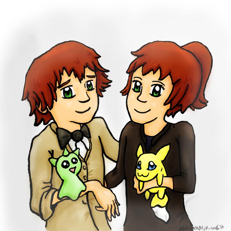 :The Okada Twins: Gift for Neko-Hanyou-Sakura by xshadowmonkeyx