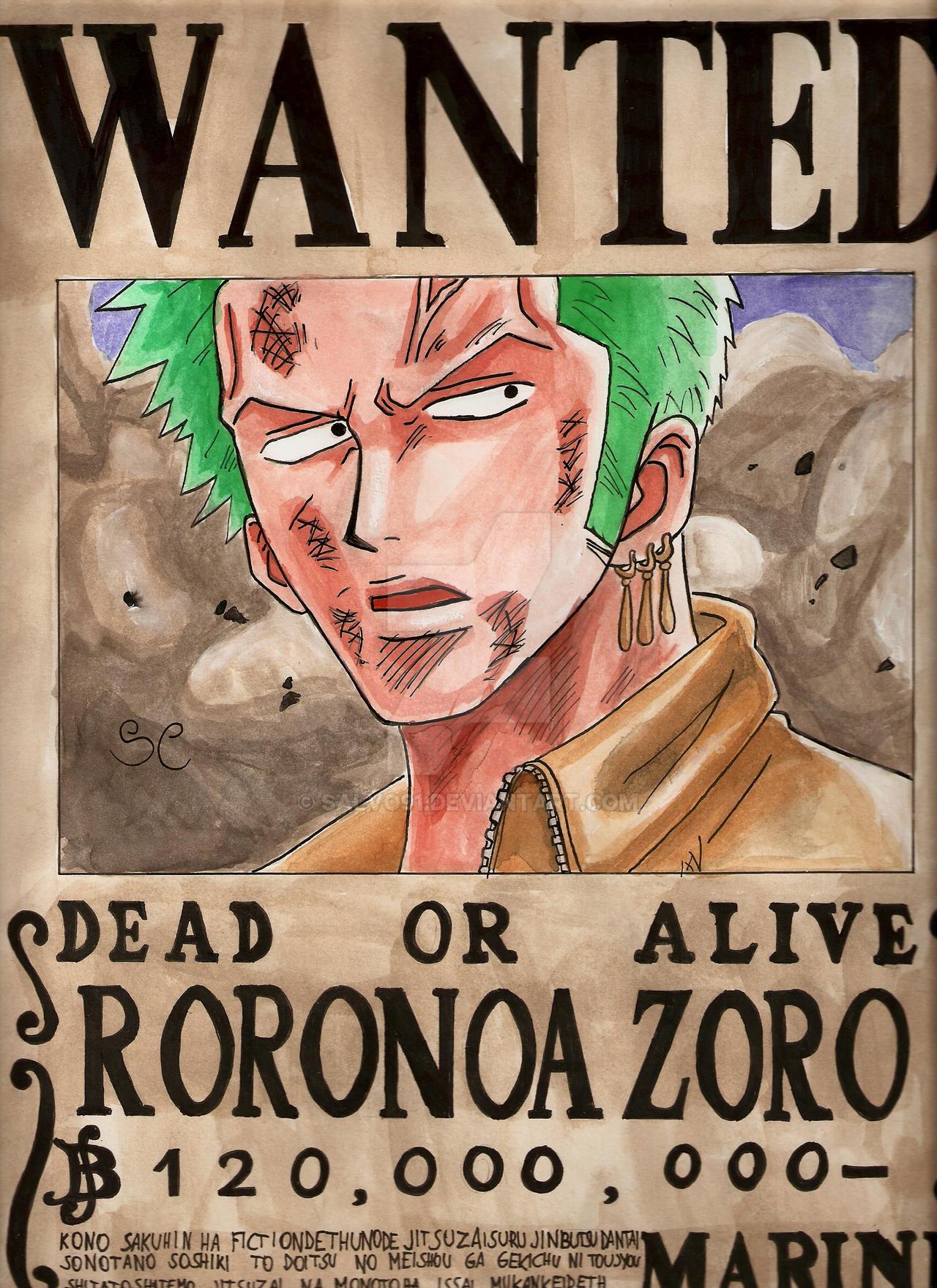 Zoro Wanted Wallpaper Hd