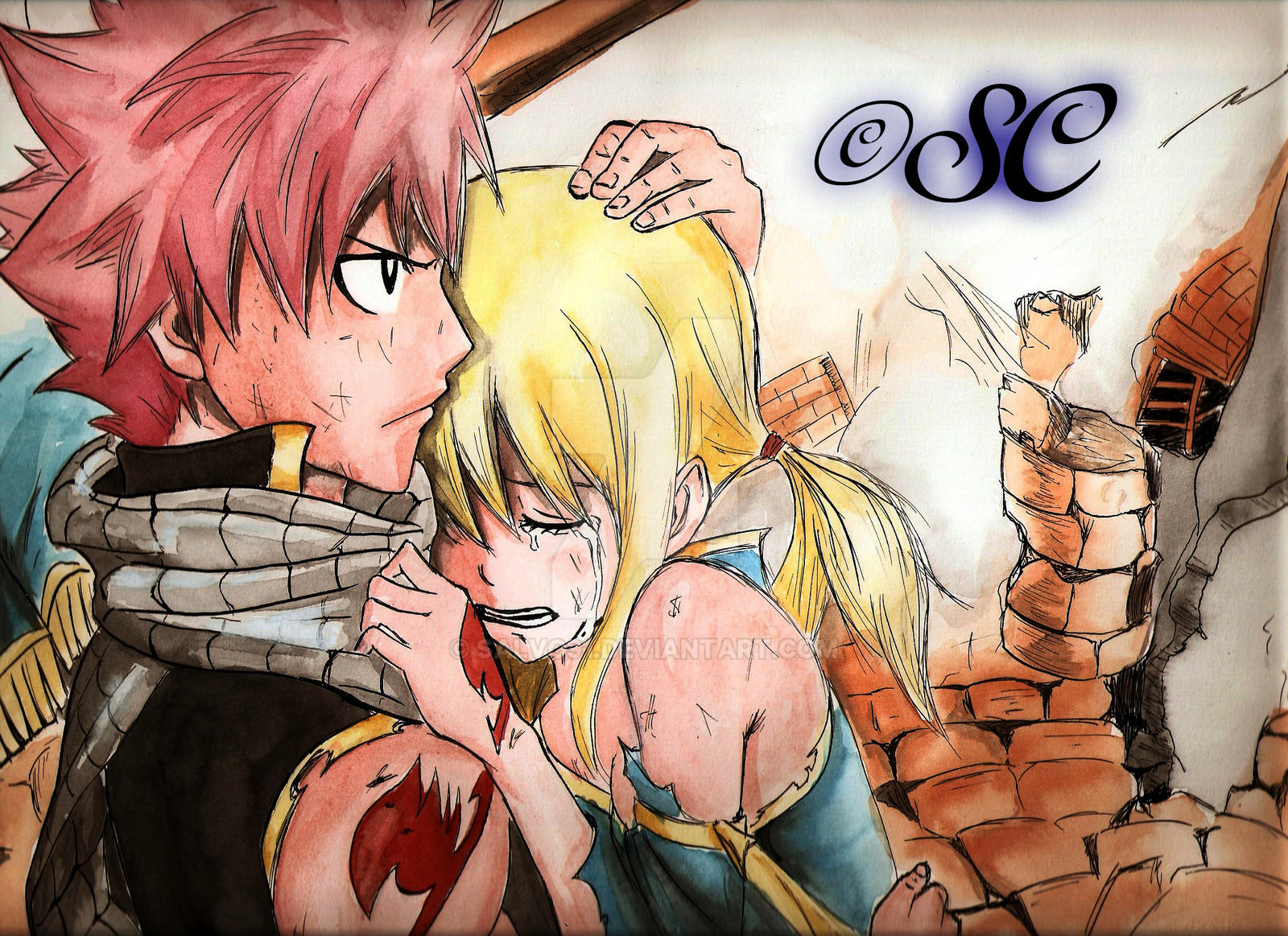 Natsu and Lucy by Salvo91