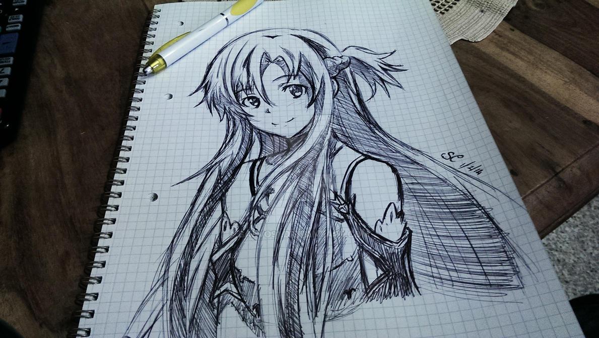 Asuna Sketch by Salvo91