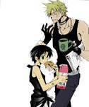 Frau and Teito manga colors