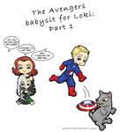 Avengers Babysit for Loki