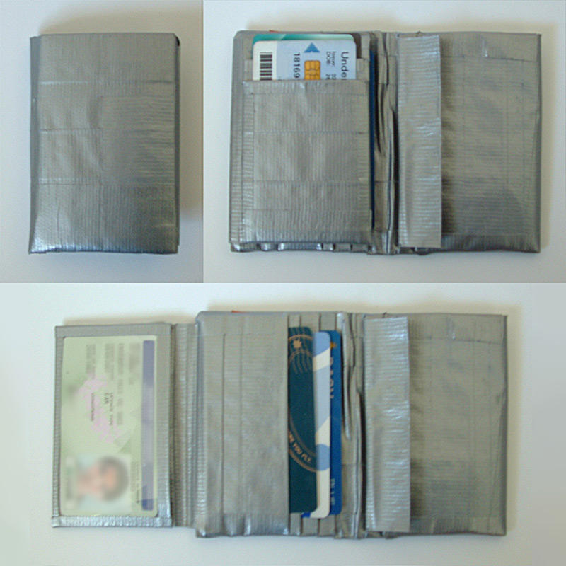 Duct Tape Trifold Wallet Instructions