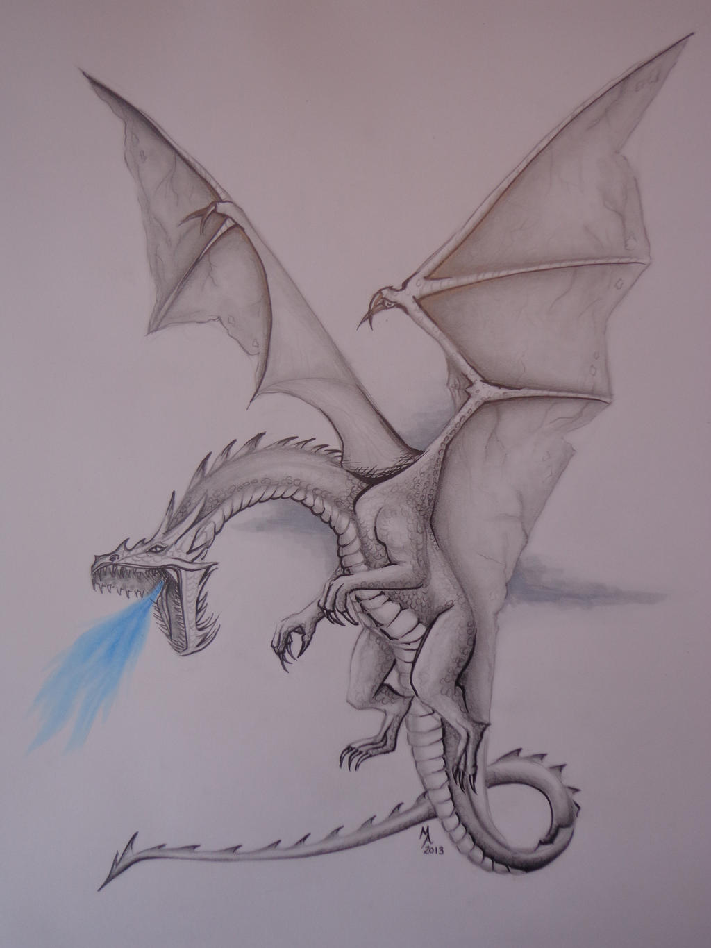 Realistic Dragon Drawing by MasteringAnime on DeviantArt